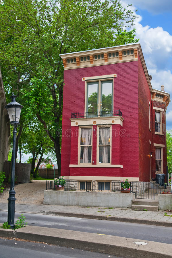 Italianate Style House stock image