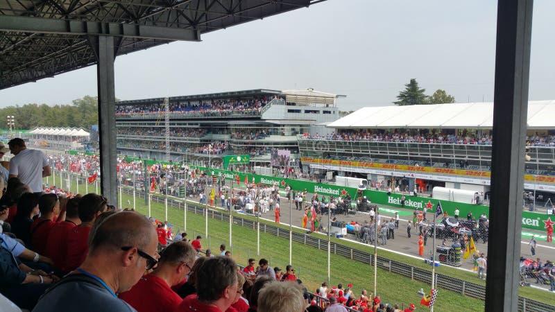 ItalianGP de Monza Formula1 raceday foto de archivo libre de regalías