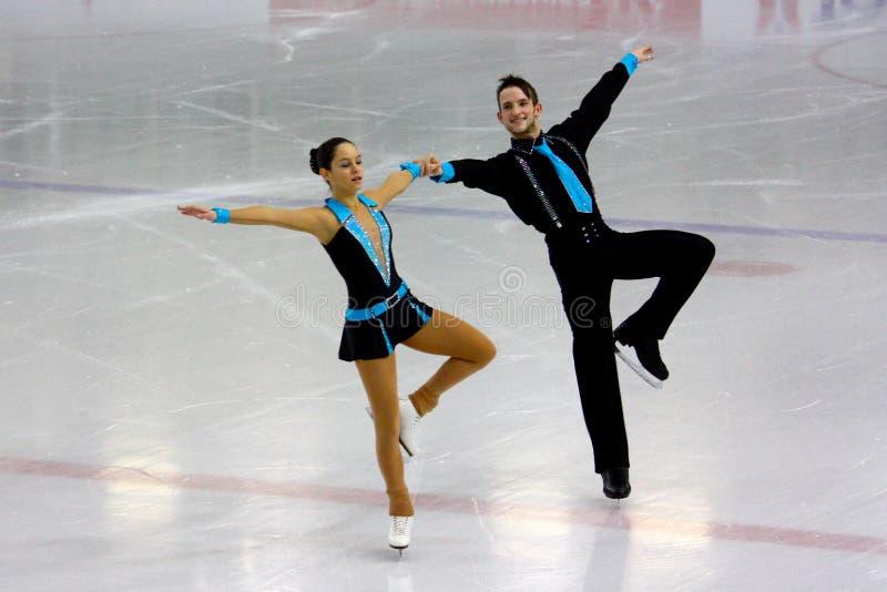 Italiano campeonatos el guardapolvo 2009 del patinaje artístico imágenes de archivo libres de regalías