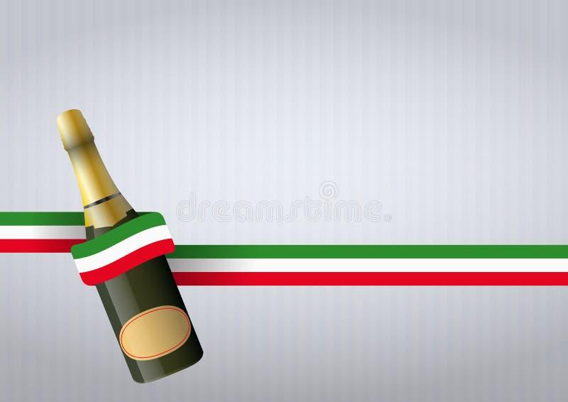 Italiano del gin Fizz illustrazione vettoriale
