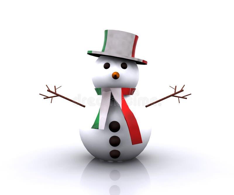 Italiano Piacevole Del Pupazzo Di Neve - 3D Fotografia Stock