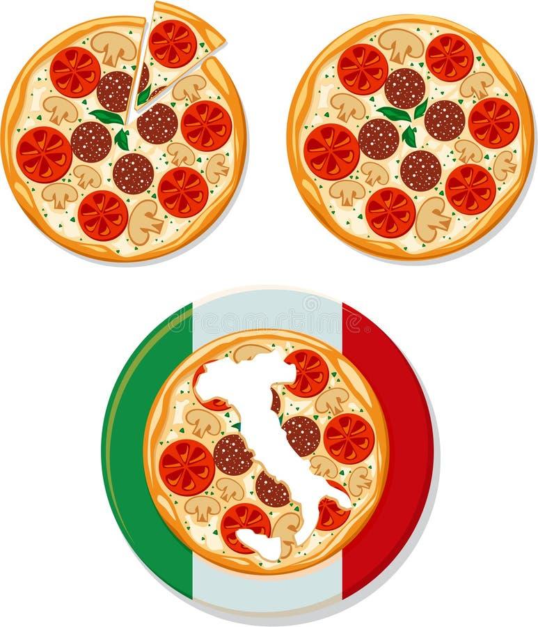 italiano pizza royalty ilustracja