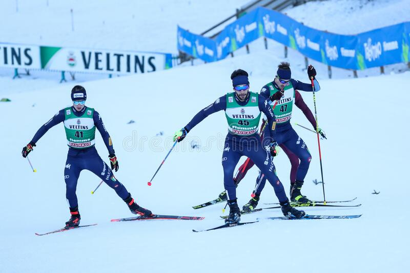 Nordic Ski FIS World Cup - Nordic Combined stock photos