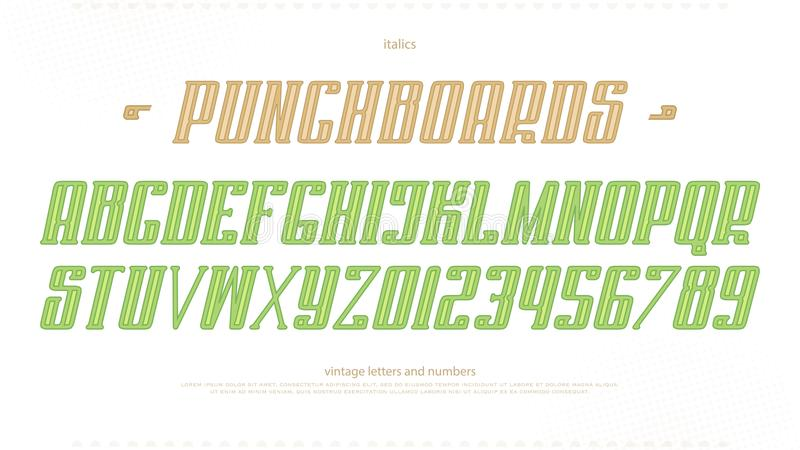 Download Italic Alphabet Letters And Numbers Vector Bold Font Type Design Stock