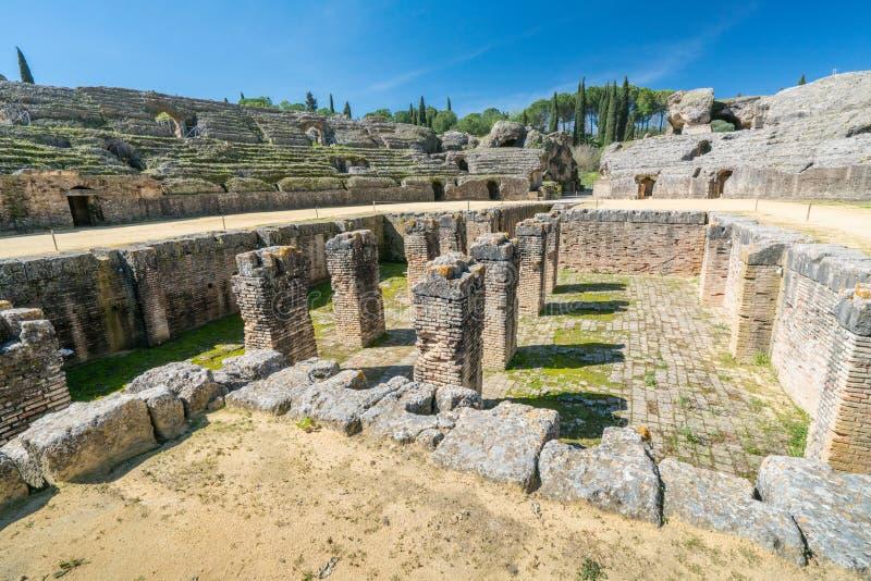 Italica Romańskie ruiny, Hiszpania obrazy royalty free