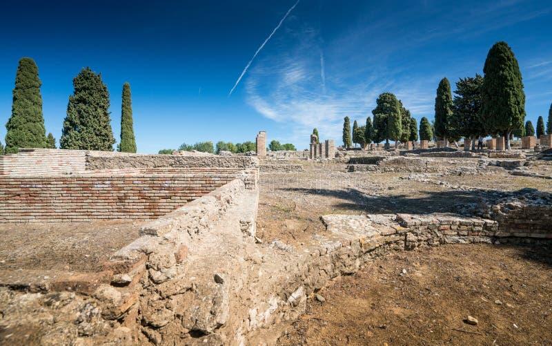 Italica Romańskie ruiny, Hiszpania zdjęcie stock