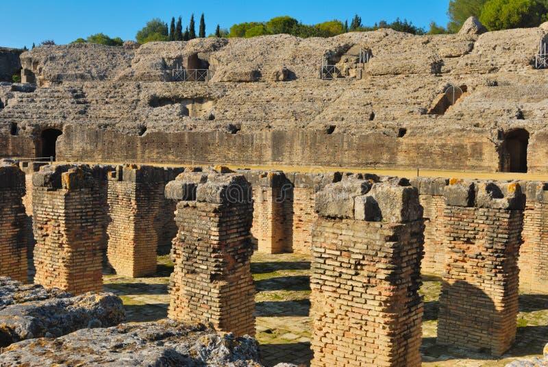 Italicas amphitheatre pit stock images
