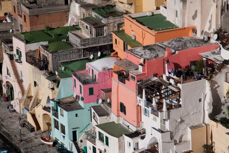 Italie-Campania-procida-Corricella image stock