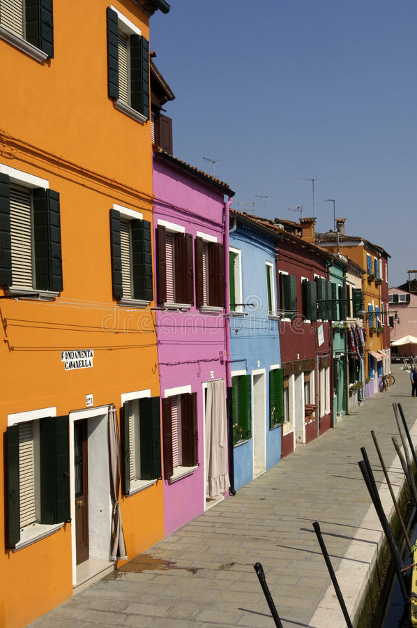 Italie, Venise, Burano stockbild
