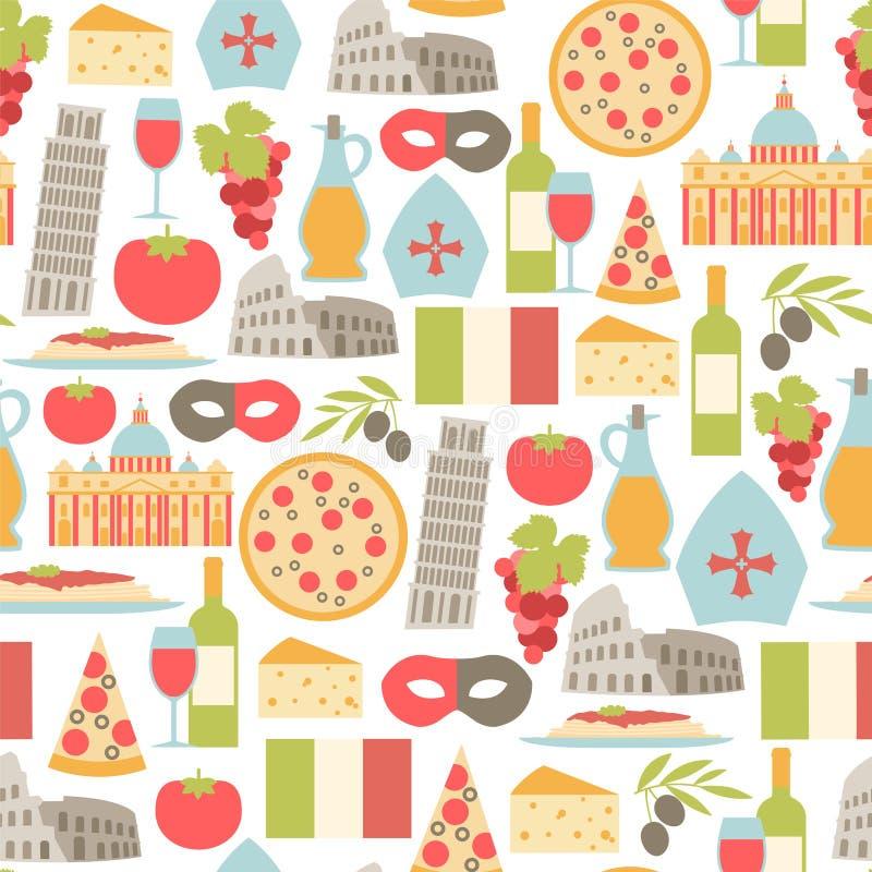 Italien bakgrund stock illustrationer