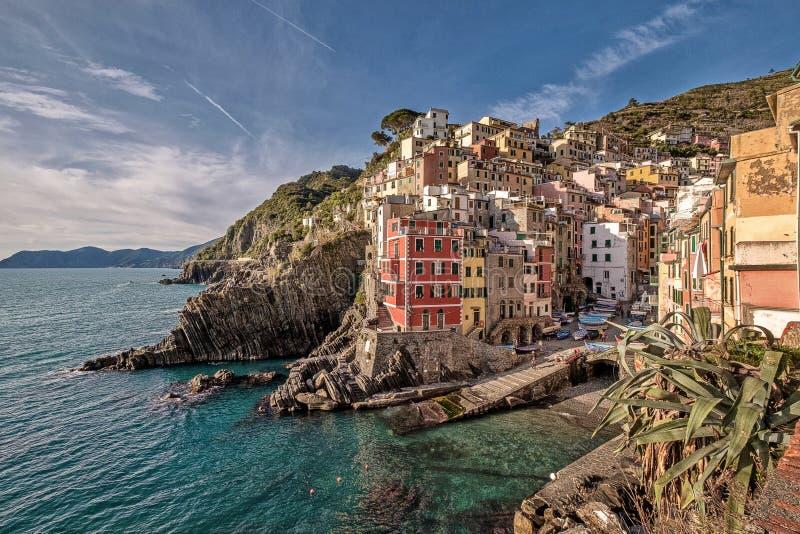 Italien, Cinque Terre, Riomaggiore lizenzfreie stockfotos