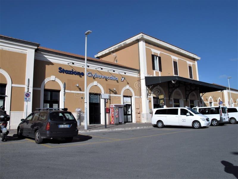 Italien, Civitavecchia-Station stockbild