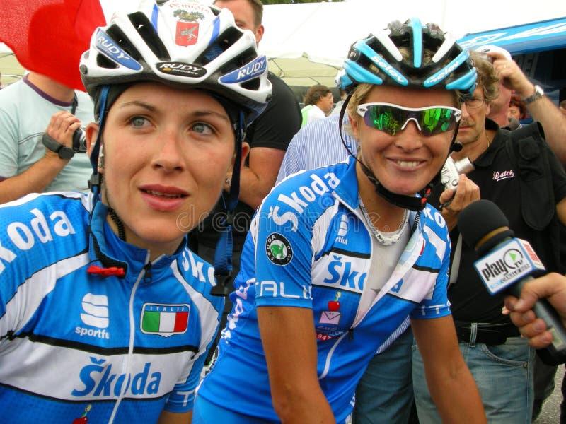 Italien, das UCI Weltschleifemeisterschaften 2009 gewinnt stockbild