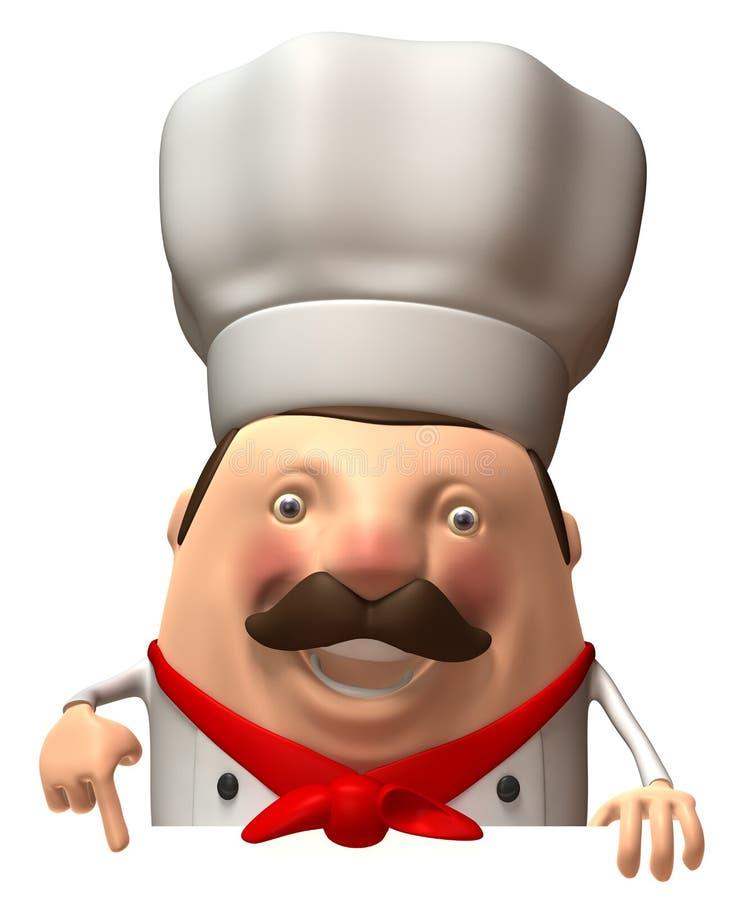 Download Italien de chef illustration stock. Illustration du assiette - 8659010