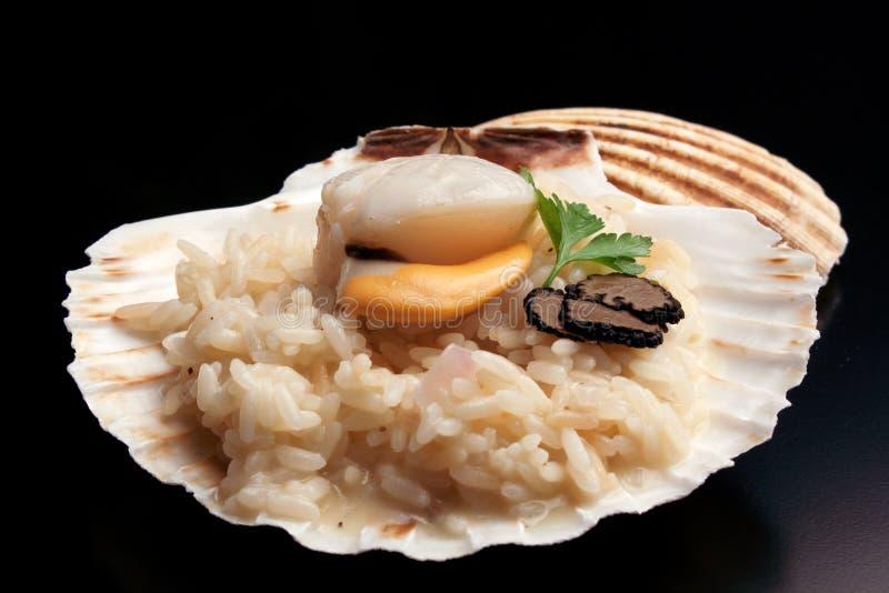 ` Italien de risotto de ` avec le trufflw et le feston photo libre de droits