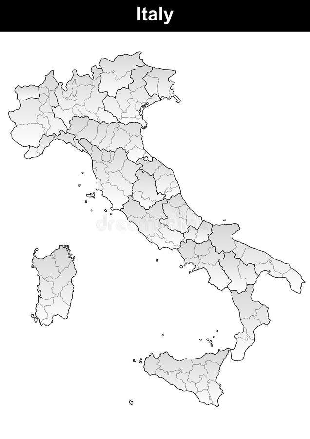 Italien diagram stock illustrationer