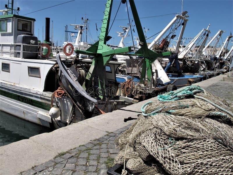 Italien, Fischereihafen von Civitavecchia stockbild