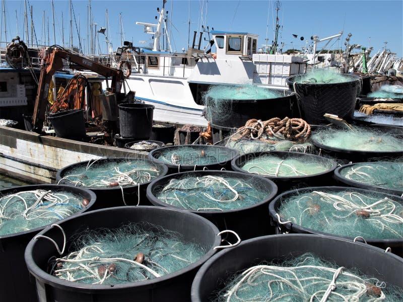 Italien, Fischereihafen von Civitavecchia stockfotos
