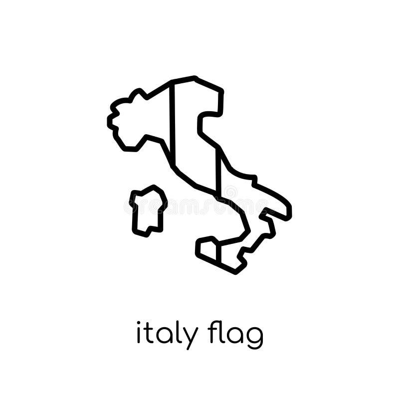 Italien flaggasymbol  royaltyfri illustrationer