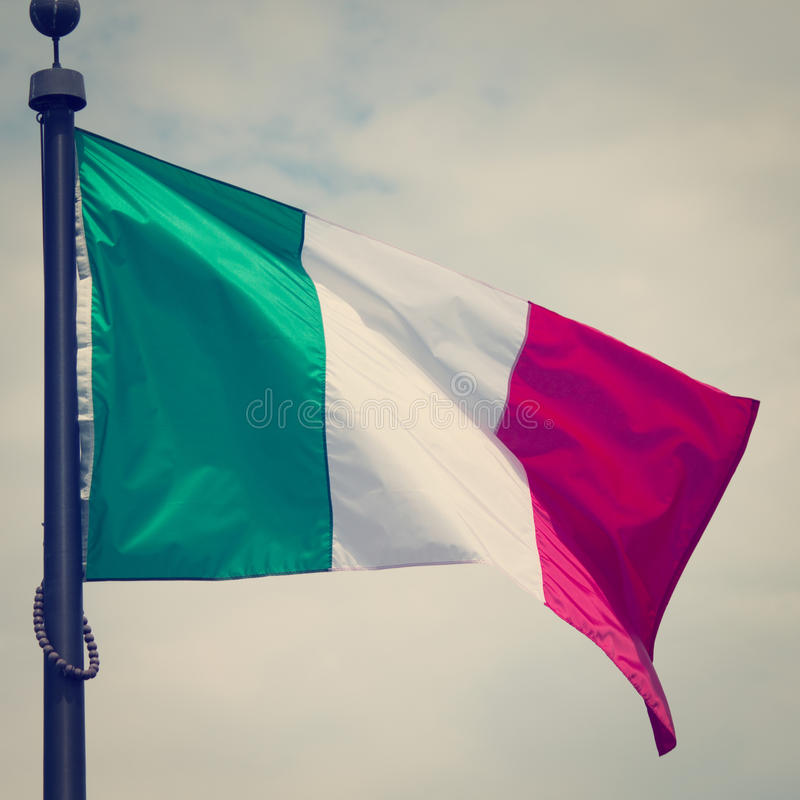 Italien-Flagge stockfotografie