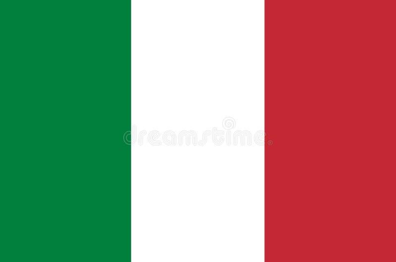 Italien-Flaggenvektor Illustration von Italien-Flagge lizenzfreie abbildung