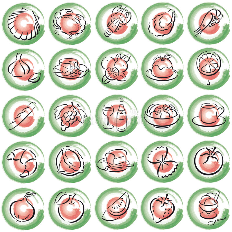 Italien Food Symbols Royalty Free Stock Image