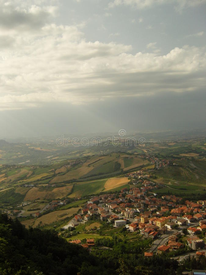 Italien från över arkivfoto