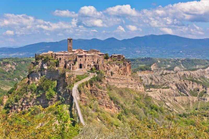 Italien Hilltown Civita di Bagnoregio image libre de droits