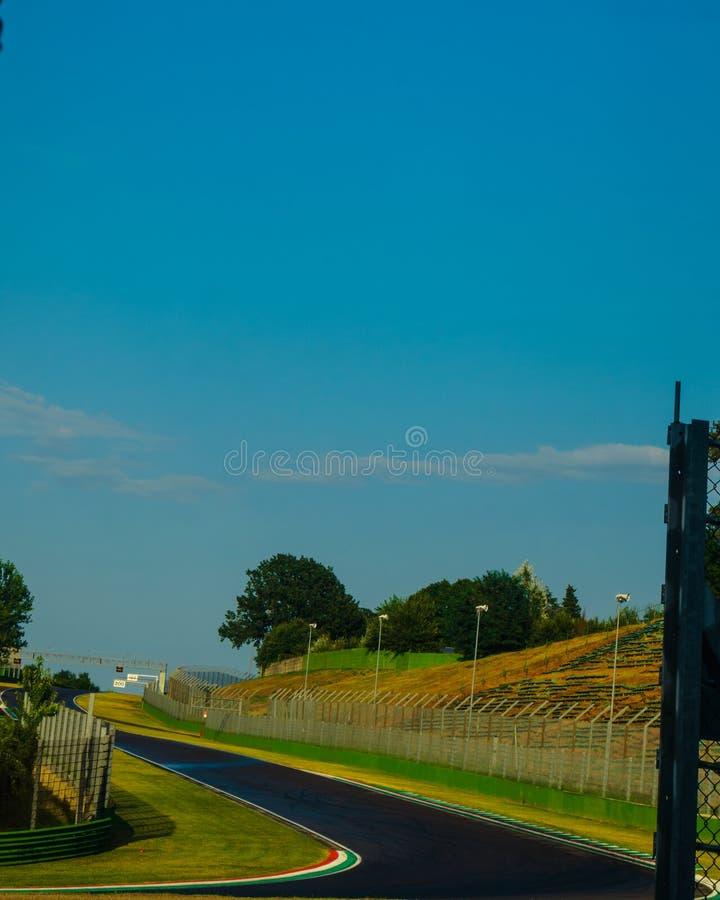 Italien Imola 16 Juli 2018: Enzo och Dino Ferrari Race Track royaltyfria bilder