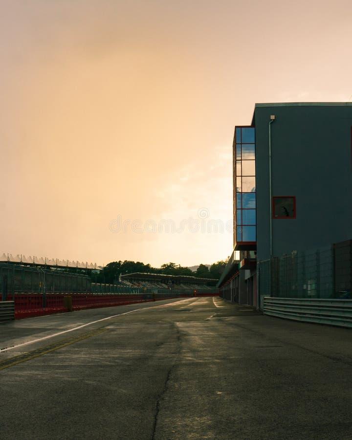 Italien Imola 16 Juli 2018: Enzo och Dino Ferrari Race Track arkivfoton