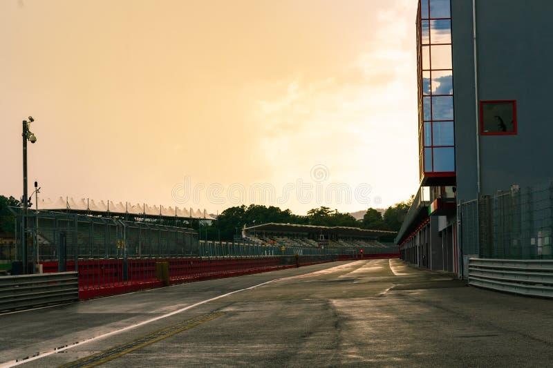 Italien, Imola am 16. Juli 2018: Enzo und Dino Ferrari Race Track lizenzfreie stockbilder