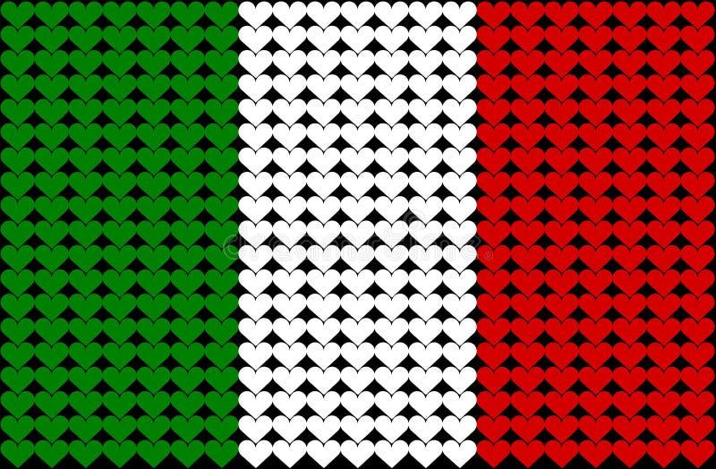 Italien-Innermarkierungsfahne lizenzfreie abbildung