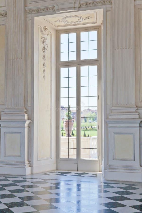 Italien - kunglig slott: Galleria di Diana, Venaria arkivfoto