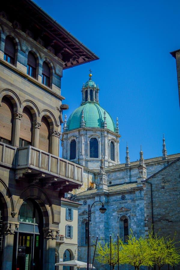 Italien, Lombardei, Como See und Stadt gestalten Ansicht landschaftlich stockbilder