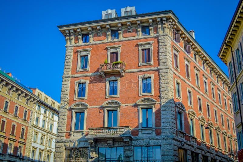 Italien Lombardy, Milano gammalt centrum royaltyfri fotografi