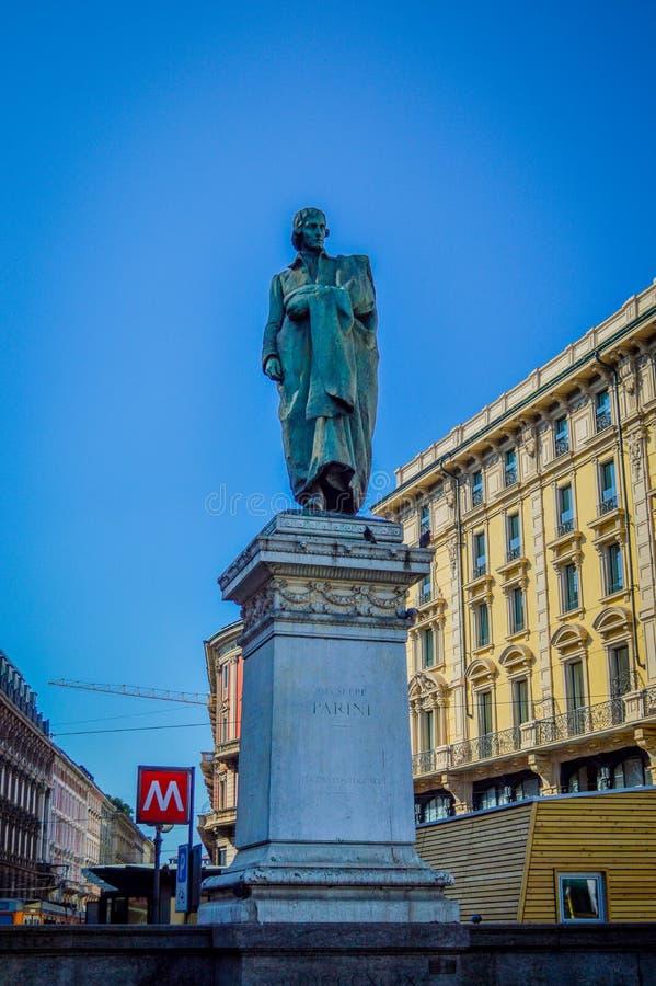 Italien Lombardy, Milano gammalt centrum arkivfoton