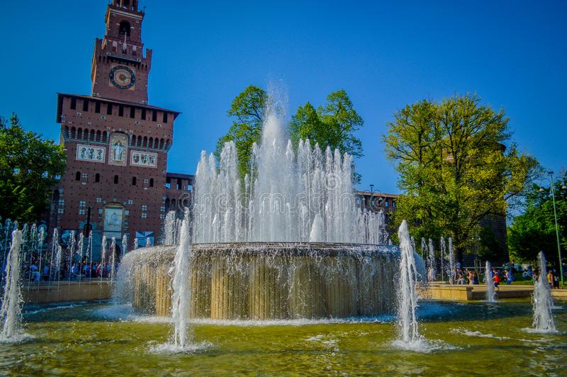 Italien Lombardy, Milano gammalt centrum royaltyfria foton