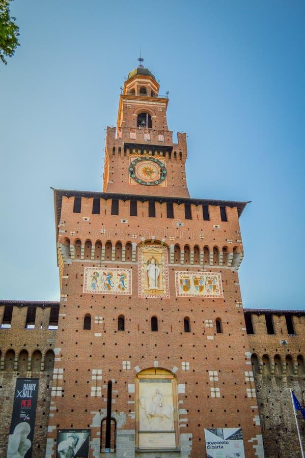 Italien Lombardy, Milano gammalt centrum arkivbilder
