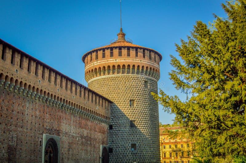 Italien Lombardy, Milano gammalt centrum royaltyfri foto