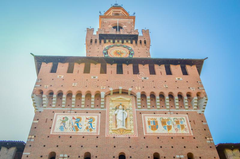 Italien Lombardy, Milano gammalt centrum royaltyfria bilder