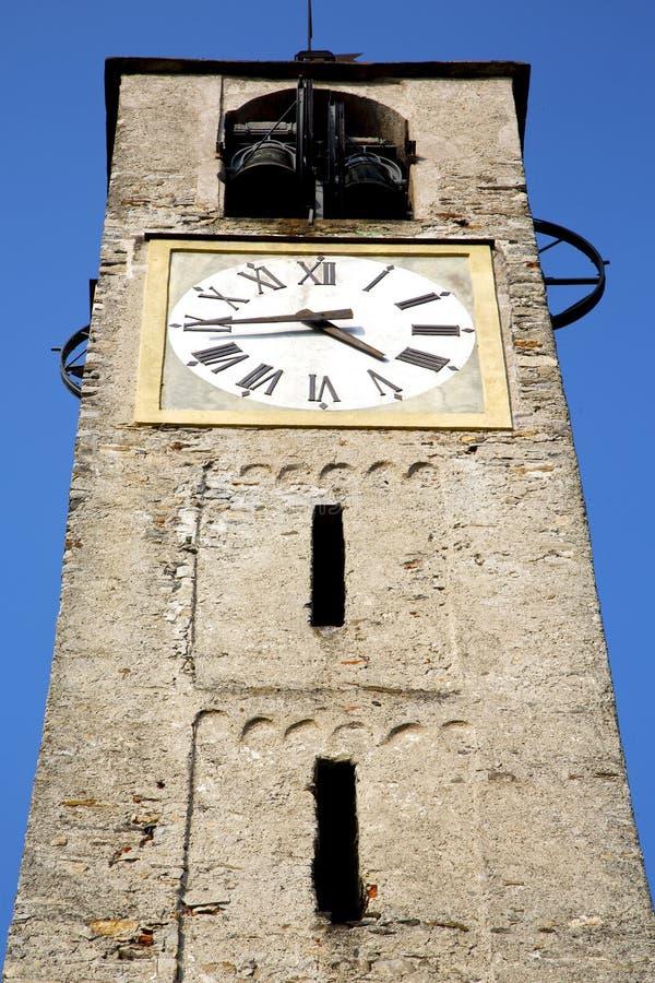 Italien lombardy sten för torn för santoantonino den gamla tegelsten arkivbilder