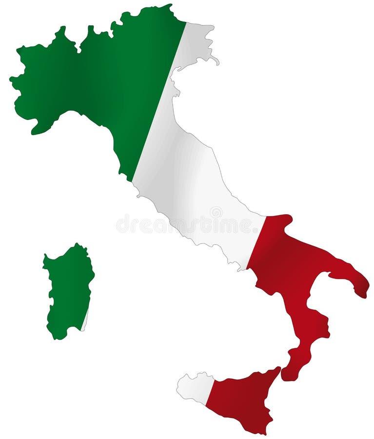 Italien-Markierungsfahne stock abbildung