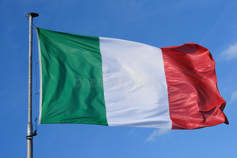 Italien-Markierungsfahne lizenzfreie stockbilder
