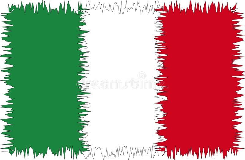 Italien-Markierungsfahne stilisiert stock abbildung