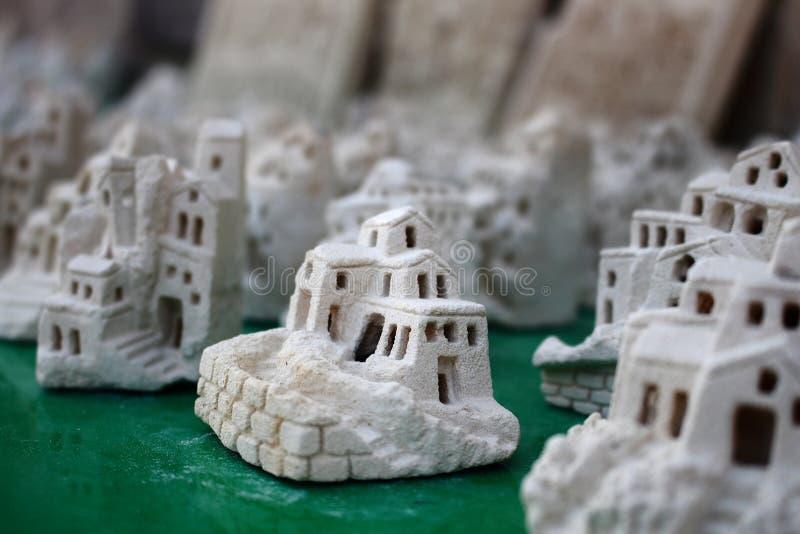 Italien matera souvenir arkivfoton