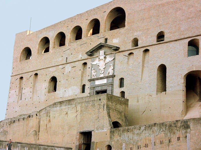 Italien Naples Sant `-Elmo ingång arkivbilder