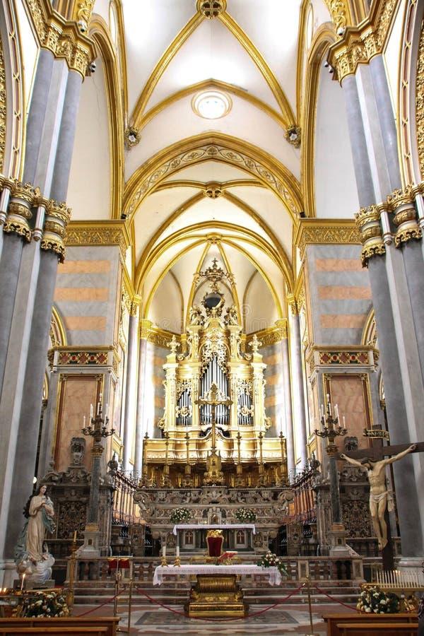 Italien - NAPOLI - Chiesa di San Domenico Maggiore stockbilder