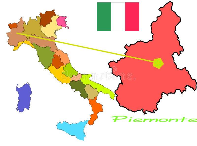 Italien, Piemonte stock abbildung