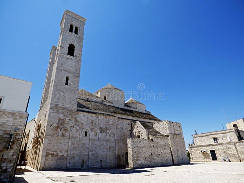 Italien Puglia, Bari, Molfetta, duomoen di San Corrado royaltyfria foton
