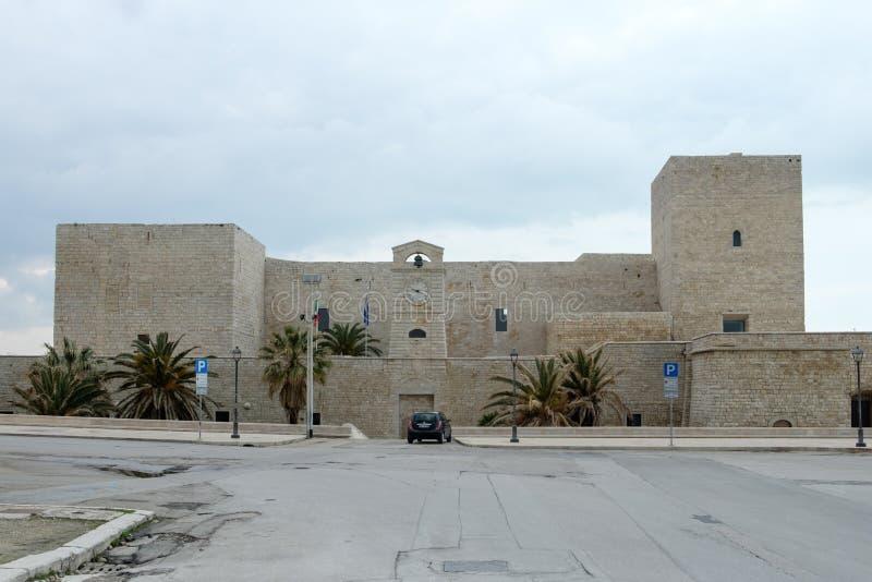 Italien Puglia, Swabian slott av Trani royaltyfri bild